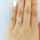 2 ct Round 6-Prong Solitaire White Gold Engagement Ring (EV117L)