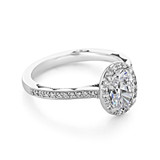 1.50 Ct. Oval Shaped Moissanite Halo Tacori Ring (49OVP8X6W-M)