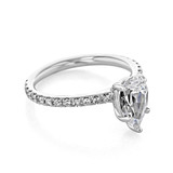 1.50 Ct. Pear Shaped Moissanite Micro-Prong Engagement Ring (CR160PS-M)