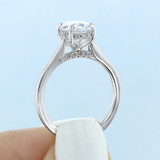 2.50 Ct. Oval Shaped Moissanite Solitaire Engagement Ring (FG87OV-M)