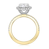 2.00 Ct. Oval Shaped Two-Toned Halo Engagement Ring (CR16OV)
