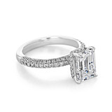 2.50 Emerald Cut Hidden Halo Pavé Engagement Ring (EV31EC)
