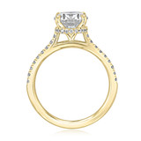 1.50 ct Round Hidden Halo Yellow Gold Engagement Ring (CR09-YG)