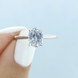 2.50 ct Oval Solitaire Yellow Gold Engagement Ring (FG87OV-YG)