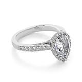 2.50 ct Tacori Dantela White Gold Engagement Ring (2620PS10X7P)