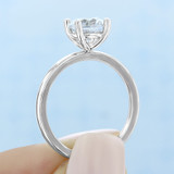 1 ct Round Gabriel Solitaire Yellow Gold Engagement Ring (ER14982-YG)