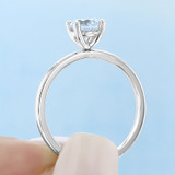 .75 ct Round Gabriel Solitaire Yellow Gold Engagement Ring (ER14982-075-YG)
