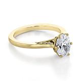 1 ct Simply Tacori Yellow Gold Engagement Ring (2650OV8X6-YG)
