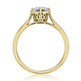 1 ct Oval Solitaire Yellow Gold Engagement Ring (SO70-YG)