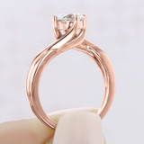 1 ct Round Solitaire Twist Yellow Gold Engagement Ring (EV434-YG)
