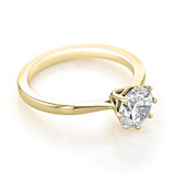 1 ct Round 8-Prong Solitaire Yellow Gold Engagement Ring (EV108-YG)