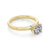 1 ct Round Solitaire Yellow Gold Engagement Ring (SO56-YG)
