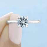 1 ct Round Solitaire Yellow Gold Engagement Ring (SO53-YG)