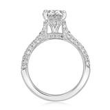 2 ct Oval Hidden Halo Triple Pavé Platinum Engagement Ring (EV30OV-PL)