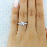 1 ct Tacori Dantela White Gold Engagement Ring (2623RDSMP)
