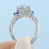 1.50 ct Tacori Dantela White Gold Engagement Ring (2628RDSP)