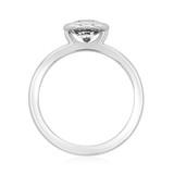 1 ct Danhov Per Lei Bezel Platinum Engagement Ring  (LE100-PL)