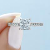 1 ct Tacori Dantela White Gold Engagement Ring (2638PRP55)