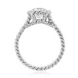 1 ct Danhov Solo Filo Braided Platinum Engagement Ring (SE106-PL)