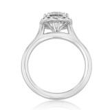 1.50 ct Round Halo Solitaire Platinum Engagement Ring (EV14-SO-PL)