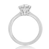 1 ct Round 8-Prong Solitaire Platinum Engagement Ring (EV108-PL)