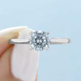 1 ct Tacori Dantela White Gold Engagement Ring (2638RD65)