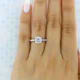 1.50 ct Tacori Dantela White Gold Engagement Ring (2638RD75)
