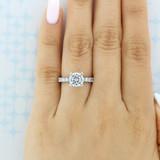 2 ct Tacori Petite Crescent White Gold Engagement Ring (HT254525RD8)