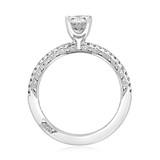 1 ct Tacori Petite Crescent White Gold Engagement Ring (HT254515OV)