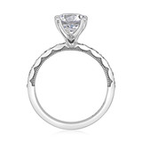 1.50 ct Tacori Sculpted Crescent White Gold Engagement Ring  (46-3RD75)