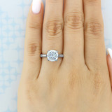 3 ct Tacori RoyalT Platinum Engagement Ring (HT2625RD9)
