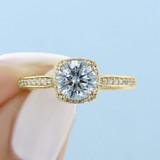1 ct Tacori Dantela Yellow Gold Engagement Ring (2620RDSMPY)