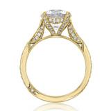 3 ct Tacori RoyalT Yellow Gold Engagement Ring (HT2627RD9)