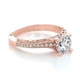 1 ct Tacori Classic Crescent Rose Gold Engagement Ring (2616RD65PK)