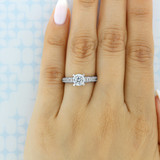 Tacori Reverse Crescent Engagement Ring (2617RD65)