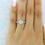 Tacori Reverse Crescent Engagement Ring (HT251071/2X)