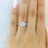 2 ct Tacori Reverse Crescent Platinum Engagement Ring (HT2515RD81/2X)