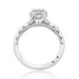 0.50 ct Tacori Sculpted Crescent White Gold Engagement Ring (52RD55)