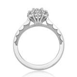 1 ct Tacori Sculpted Crescent White Gold Engagement Ring (59-2RD65)