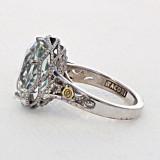 Crescent Crown Prasiolite Quartz Fashion Ring  (SR12312)