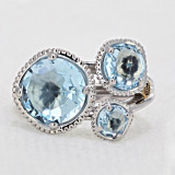 Gemma Bloom Sky Blue Topaz Fashion Ring (SR13702)