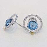 Gemma Bloom London Blue Topaz Fashion Earrings (SE14033)
