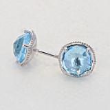 Gemma Bloom Sky Blue Topaz Fashion Earrings (SE15402)