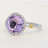 Gemma Bloom Pavé Amethyst Fashion Ring (SR14501)
