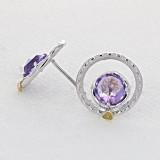 Gemma Bloom Amethyst Fashion Earrings (SE14001)