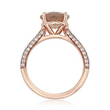 Rose Gold Morganite Engagement Ring (R939-4)