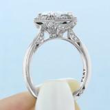 2 ct Tacori RoyalT Platinum Engagement Ring (HT2651EC85X65)