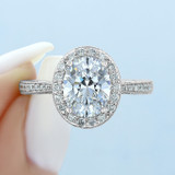 2 ct Tacori RoyalT Platinum Engagement Ring (HT2652OV9X7)