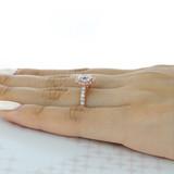 1 ct Round Gabriel Halo Rose Gold Engagement Ring (GC25R)