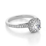 1.50 ct Tacori Dantela White Gold Engagement Ring (2620RDMDP)